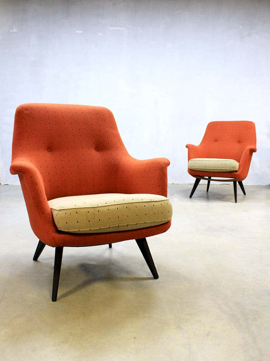 Vintage design lounge chairs sofa mid century vintage for Classic mid century chairs