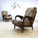 Mid century vintage design Deense lounge chairs