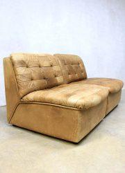 Vintage de Sede lounge bank, vintage de Sede sofa patchwork