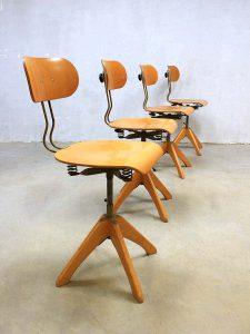 vintage architecten stoelen industrieel Polstergleich Margarete Klöbe