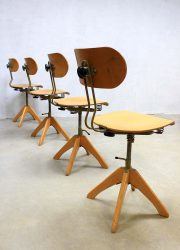 industrial architects chairs stool Polstergleich stoelen vintage industrieel
