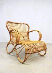 Mid century vintage rotan lounge chairs Rohe Noordwolde