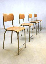 Industriële vintage krukken stoelen, Industrial bar stools chairs Tubax
