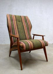 vintage Deense lounge fauteuil arm chair Danish wingback chair