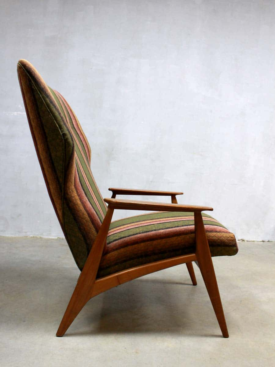 Vintage danish wingback chair vintage design fauteuil deense for Deense fauteuil