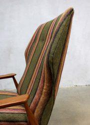 vintage wingback chair vintage oorfauteuil