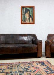 vintage De Sede lounge bank De Sede armchair DS44