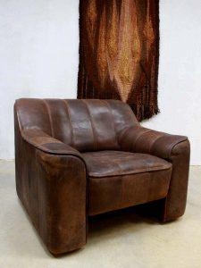 vintageleren fauteuil De Sede DS 44