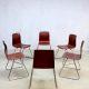 Industrial stacking chairs Galvanitas, vintage stapelstoelen industrieel