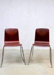 plywood stacking chairs Galvanitas eetkamer stoel