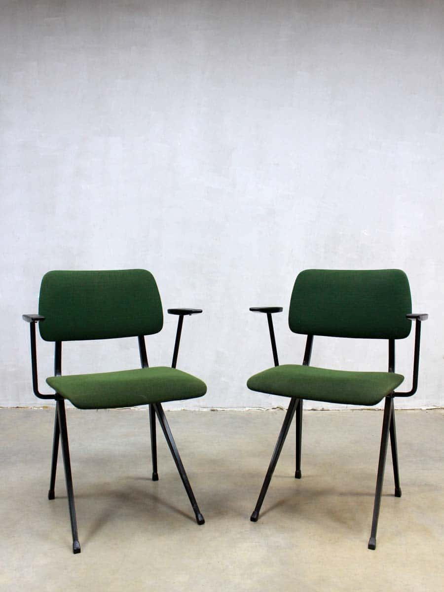 Vintage industrial chair marko industri le schoolstoel marko - Kamer dining ...
