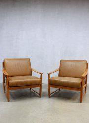 Danish vintage design lounge set, deense vintage design lounge set
