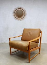 vintage design leren stoel fauteuil lounge chair Danish