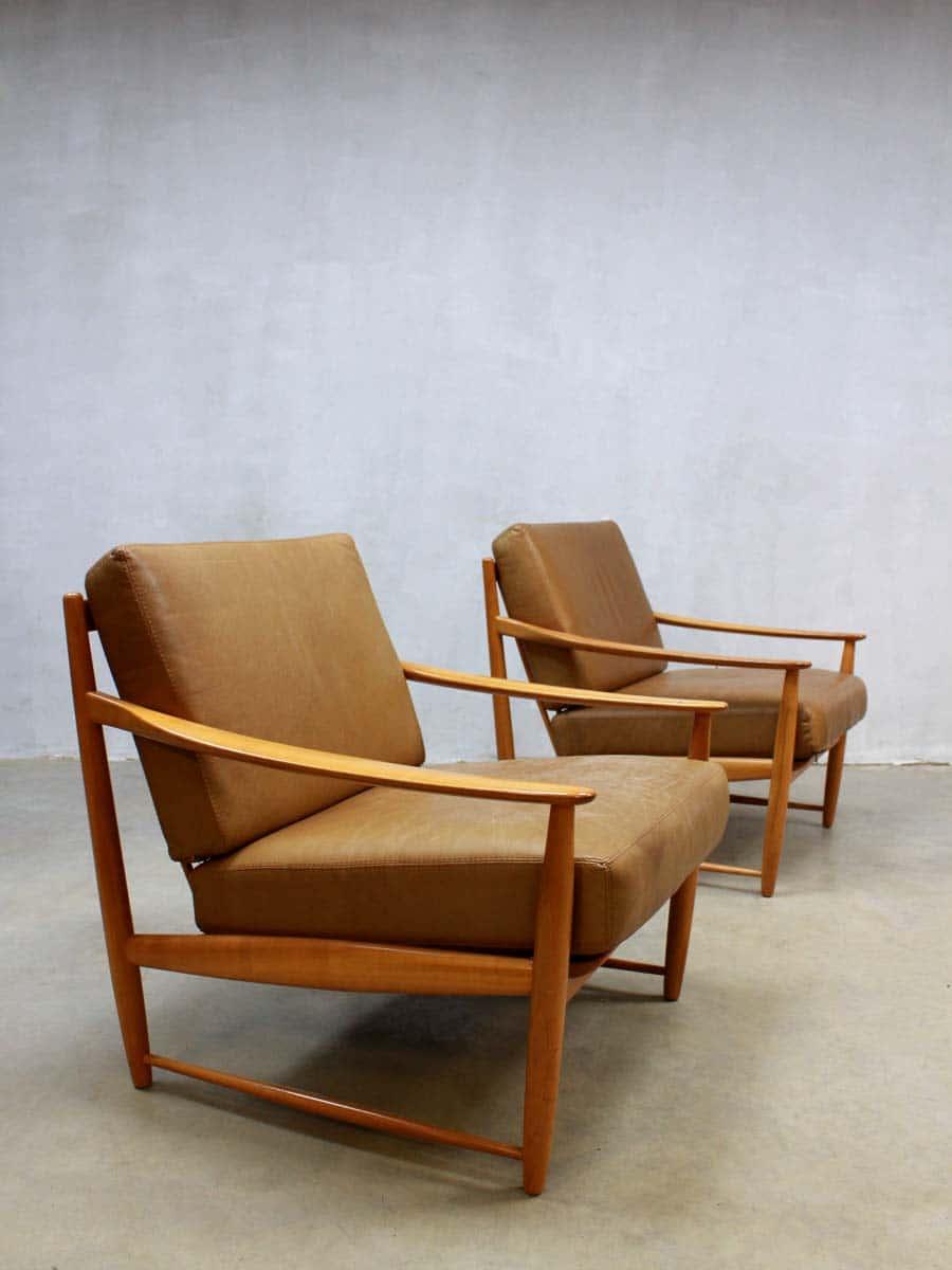 Mid Century Danish Design Lounge Chairs Vintage Deense