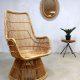 rotan fauteuil mid century Franco Albini stijl vintage