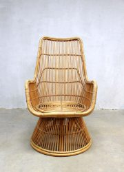 peacock rattan lounge chair vintage design