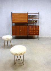 vintage design wandkast wandmeubel secretaire
