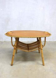 Janine Abraham vintage rattan table