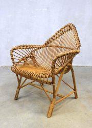 vintage rotan stoel Janine Abraham