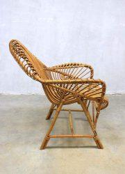 Vintage rattan chair Janine Abraham