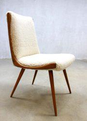 vintage dinner chair sheep skin