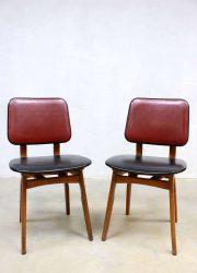 vintage eetkamer stoelen retro deense stijl