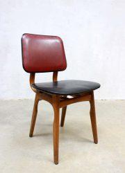 vintage eetkamer stoel retro skai leer