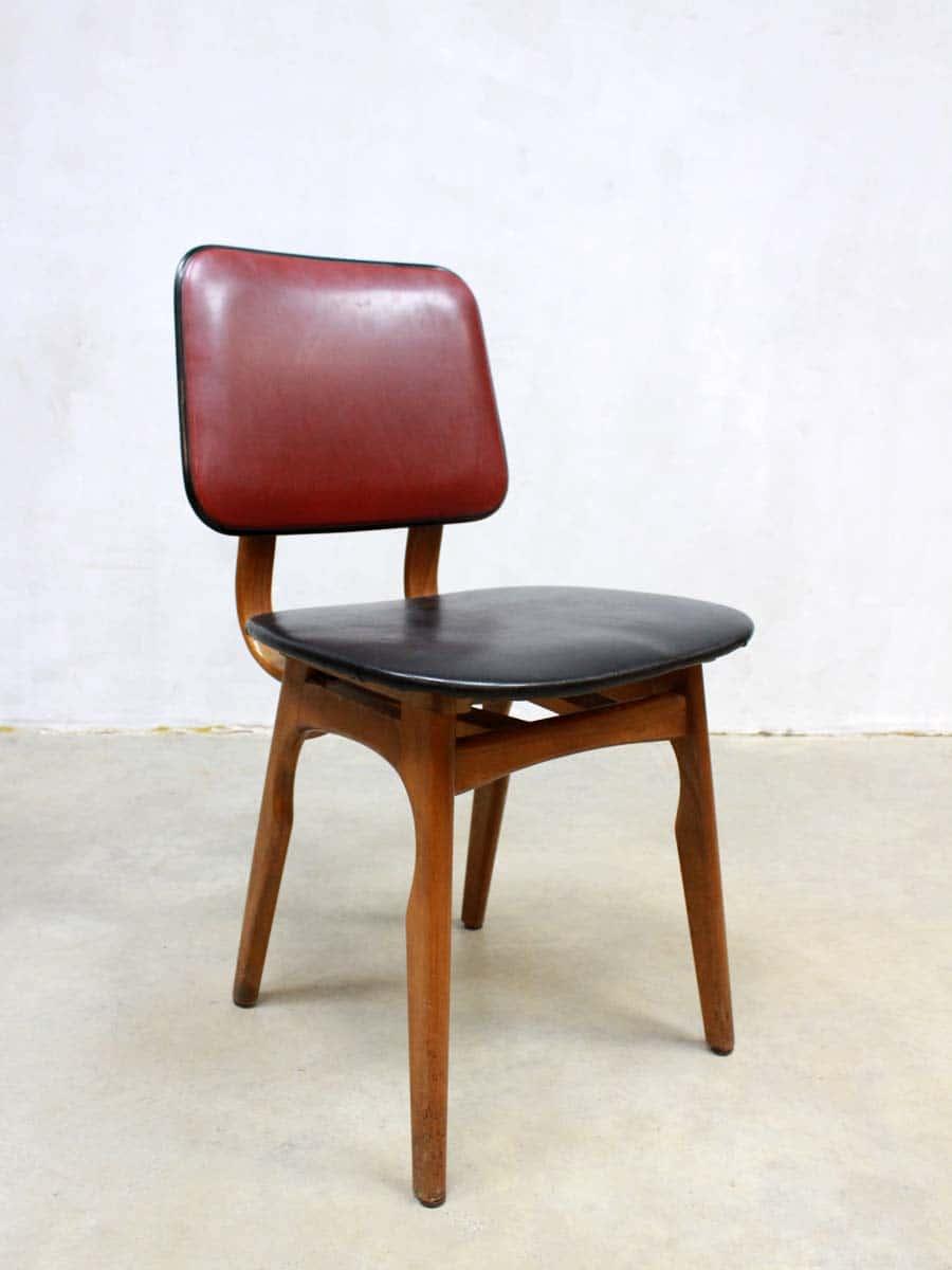 Vintage design dutch dinner chairs vintage design for Stoel leer