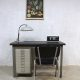 vintage writing desk Backfield metalen bureau
