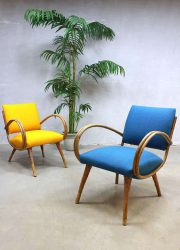 Mid century bamboo lounge chairs lounge fauteuils bamboe