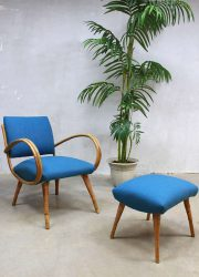vintage retro bamboe stoel lounge fauteuil rotan