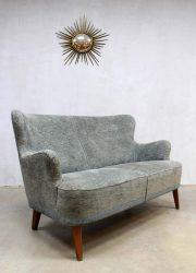 Fifties vintage velour bank Artifort Theo Ruth, midcentury vintage sofa Artifort