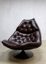 Mid century Artifort swivel chair F588, vintage Artifort draaifauteuil Geoffrey Harcourt
