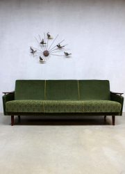 Vintage velours lounge bank, fifties vintage velvet sofa