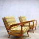 vintage Deense stoel fauteuil lounge chair