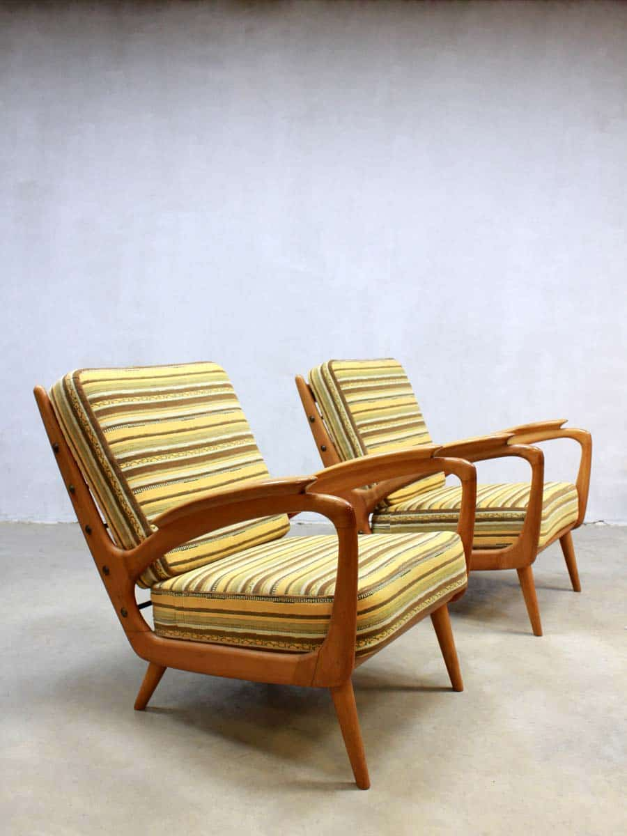 Armchairs Danish Fauteuils Vintage Deense Chairs Lounge E2DWIH9
