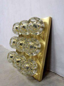 Vintage Peill & Putzler lamp ice cube glass scones wall lamp