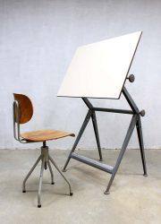 vintage design drawing table Friso Kramer tekentafel