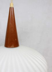 midcentury design glazen hanglamp pendant lamp Philips