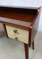 Fifties vintage kaptafel bijzettafel dressing table side table