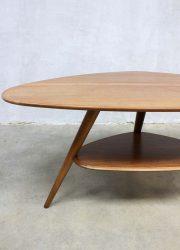 vintage coffee table teak triangle salontafel