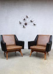 vintage armchairs chairs sixties lounge fauteuils