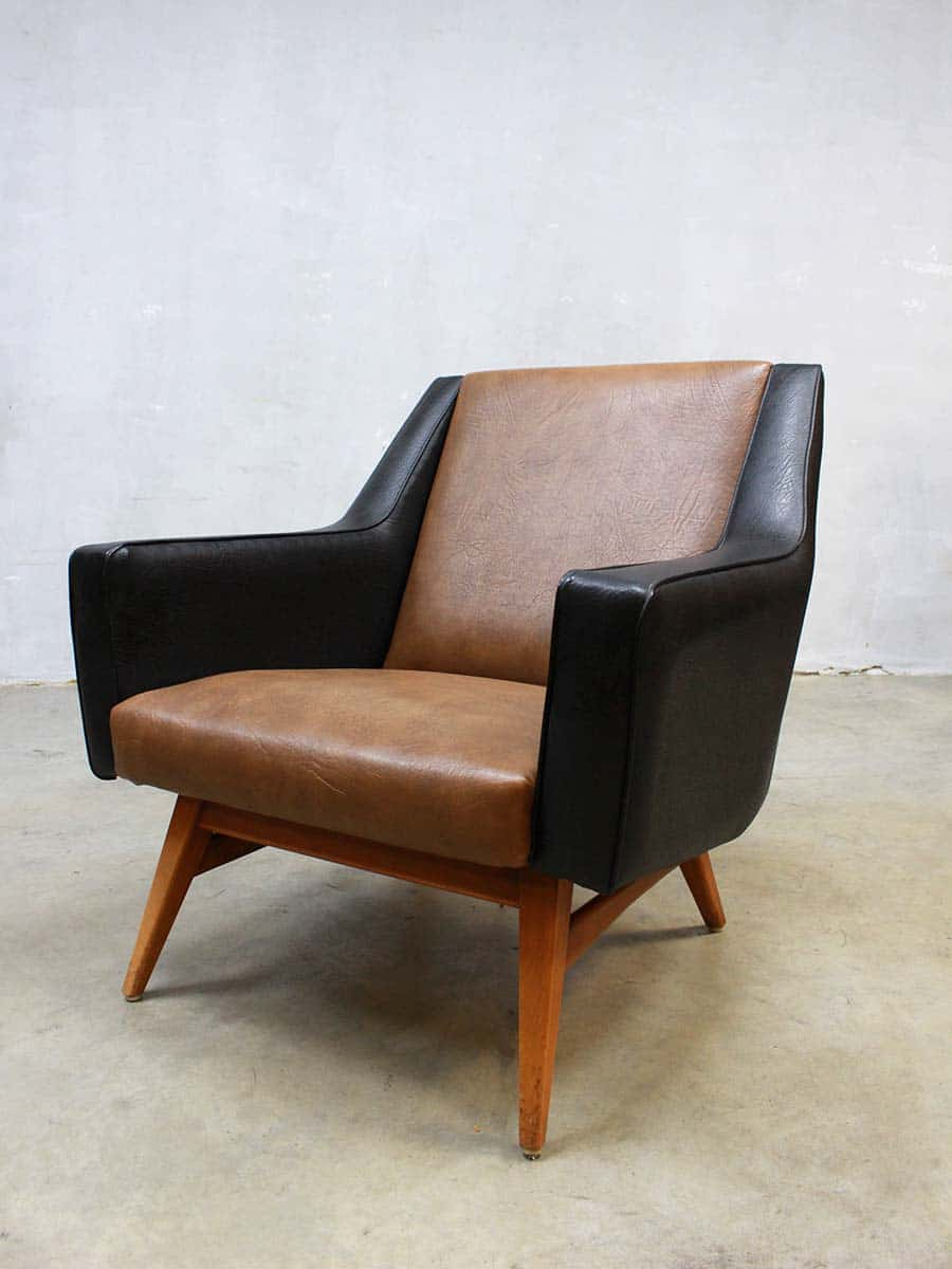 Loungebank Met Fauteuil.Mid Century Seating Group Mad Men Style Lounge Bank Fauteuils