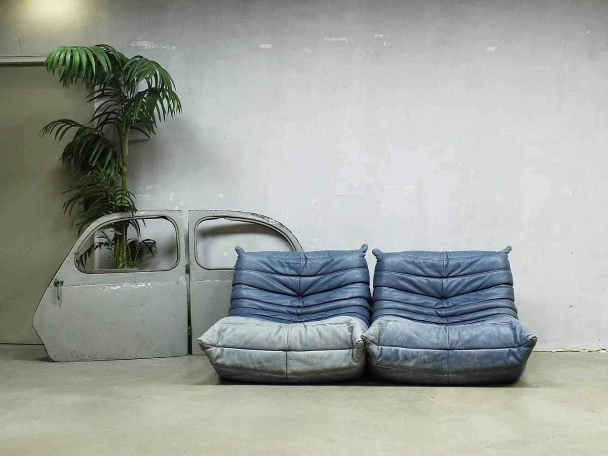 Vintage leren bank togo ligne roset midcentury design sofa togo ligne roset - Meubel lijn roset ...
