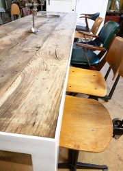 vintage barnwood table Industrial , vintage tafel industrieel