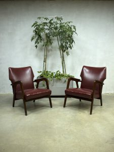 Vintage deense lounge fauteuils armchairs wingback chair Danish