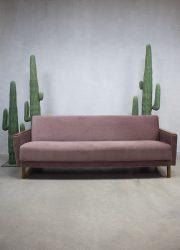 Mid century soft pink vintage design sofa lounge bank