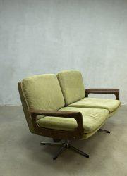 Midcentury vintage design bank sofa Eames era style