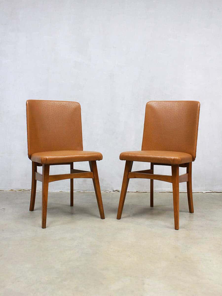 Vintage Dutch Design Dinner Chairs Eetkamer Stoelen Stoel