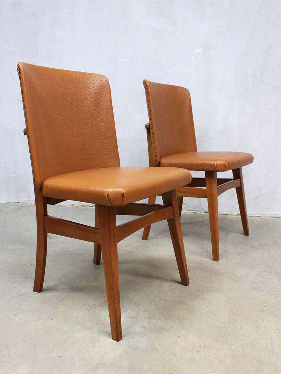 Vintage dutch design dinner chairs eetkamer stoelen stoel for Dutch design stoel